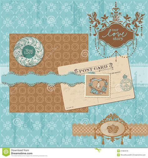 design online scrapbook scrapbook design elements vintage wedding set royalty