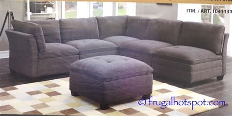 costco sale 6 pc modular fabric sectional 699 99