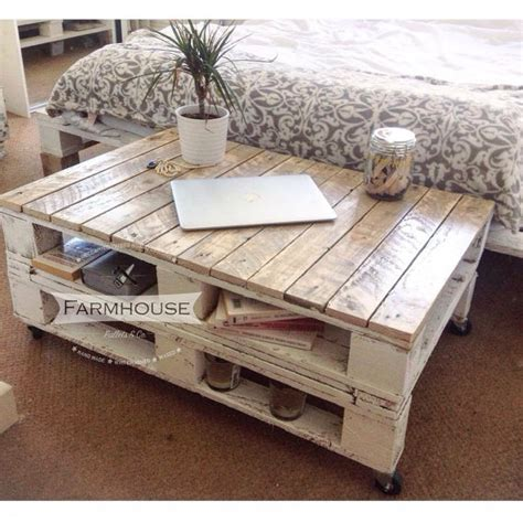 pallet coffe table pallet coffee table lemmik farmhouse style by