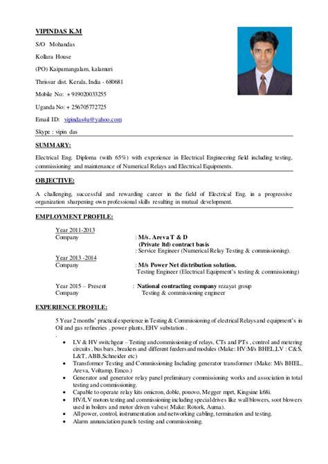 format cv adb vipin resume