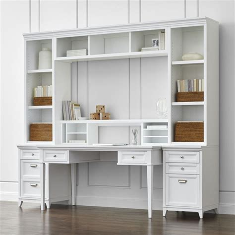 next home office furniture harrison 7 white modular home office crate and barrel