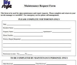 Maintenance Request Form Template Charlotte Clergy Coalition X Request Form Template