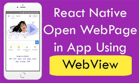 react native webview tutorial react native open web page in app using webview android