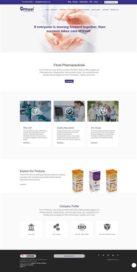 pharmaceutical web design solution
