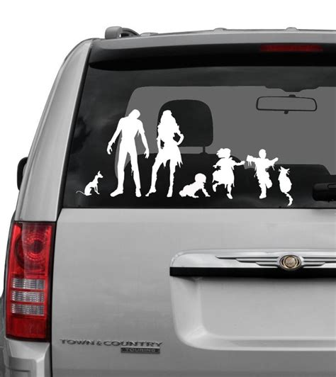 Car Sticker Zombie by Zombie Family Car Decals Geektyrant