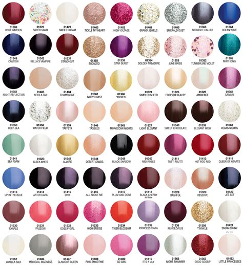 gelish color chart most popular gelish colors newhairstylesformen2014