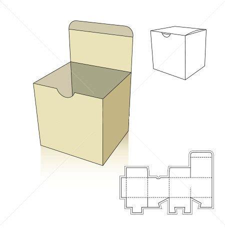 square box template  nail bit corrugated  folding