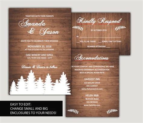 25 Best Ideas About Diy Wedding Invitations Templates On Woodland Invitation Template