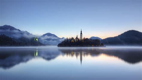 chateau du lac calme windows  hd fonds decran apercu