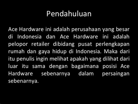 ace hardware indonesia adalah ppt strategi perusahaan ace hardware