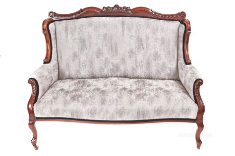 victorian settee antique superb victorian carved mahogany settee antiques atlas