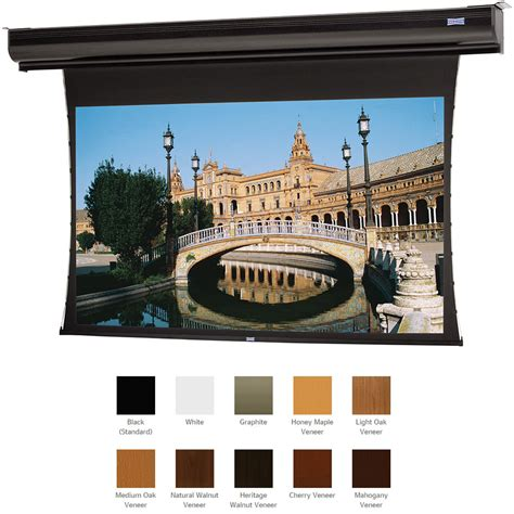 1 Da Lite Cinema Contour High Contrast Da Mat 119 Screen 94310v by Da Lite 70176elmv Tensioned Contour Electrol 72 5 X 70176elmv