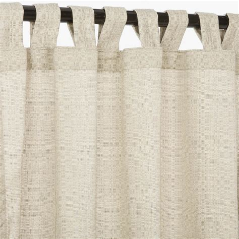 Curtains With Tabs Linen Silver Sunbrella Outdoor Curtains With Tabs