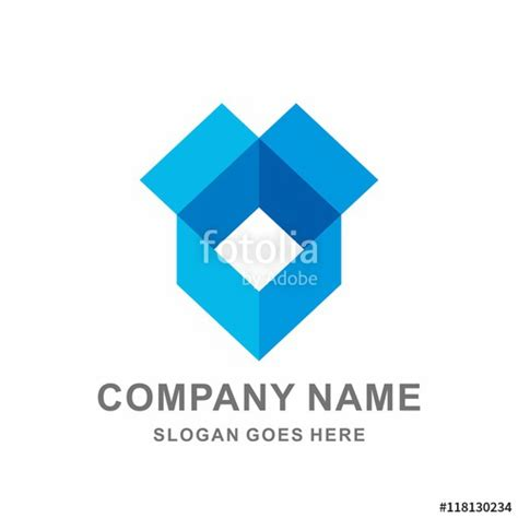 Open Box Template by Quot Open Box Geometric Square Shape Vector Logo Template