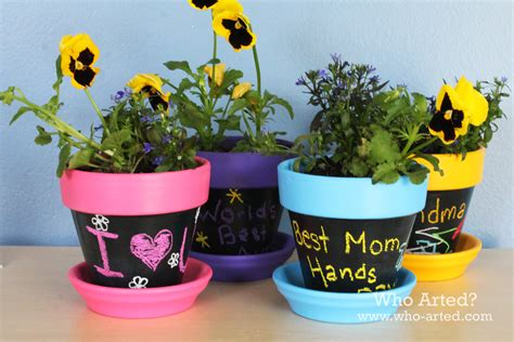 s day craft for decorative flower pot