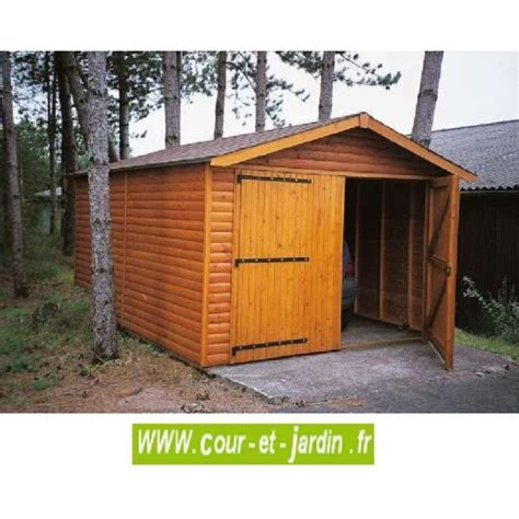 Garage En Bois Pour Voiture by Garage Bois 18m 178 En Kit Pas Cher Garages En Bois De