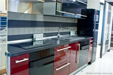 red and black kitchen cabinets black and red kitchen home designer