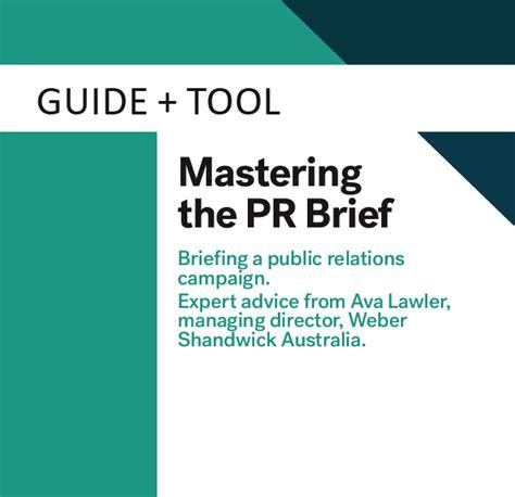 Mastering The Pr Brief Marketing Magazine Pr Template