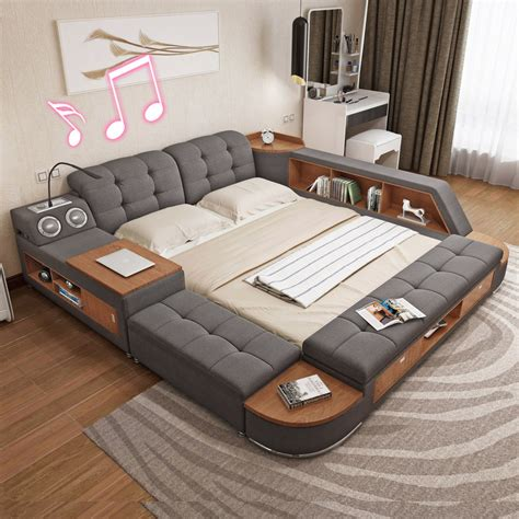usd  master bedroom multi function tatami bed modern simple storage bed double bed