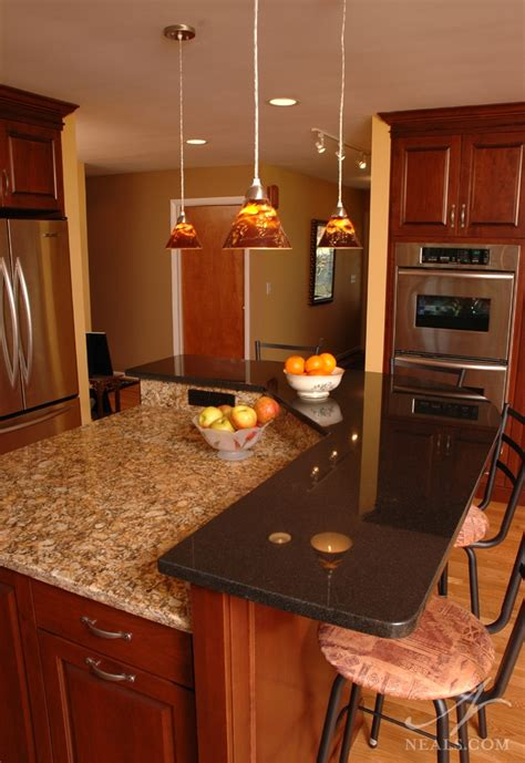 multi level kitchen island family kitchen remodel west chester oh