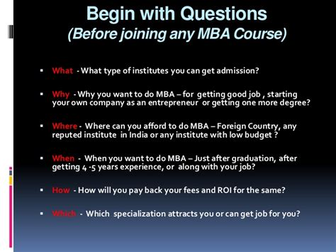 Before Mba What To Do before joining mba what you should