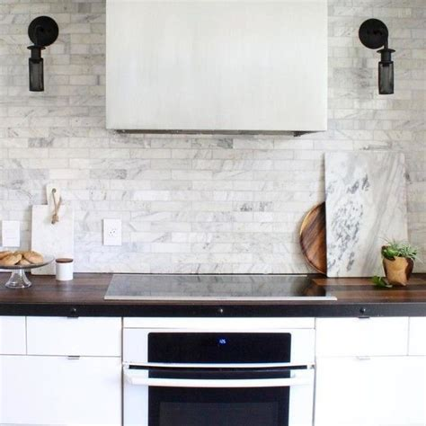 carrara marble subway tiles house ideas pinterest carrara marble subway tile kitchen backsplash kitchen