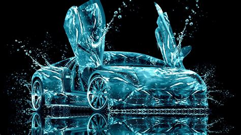 Lamborghini In Water Lamborghini Water Abstract Wallpaper Allwallpaper In