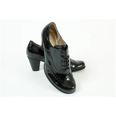 Lace Up Patent Shoes gabor girona s shoe in black patent