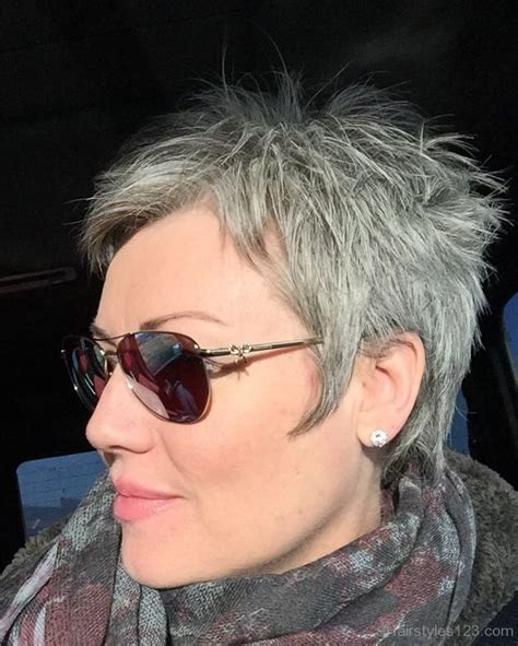 spikey styles for grey hair grey hairstyles