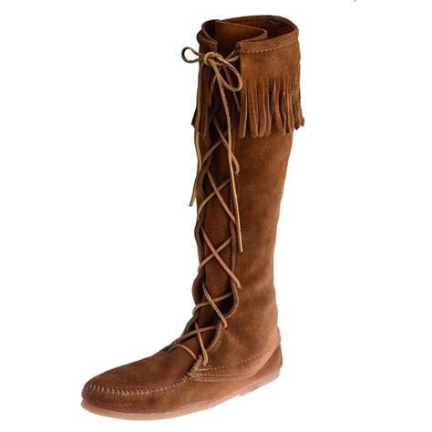minnetonka moccasins boots minnetonka moccasins 1422 s knee high boot