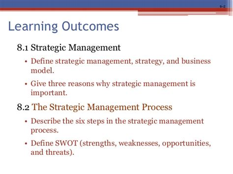 Mba Course Outcomes by Organization And Management Robbins Coulter Chapter 8