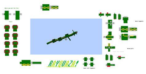 Rayquaza Papercraft - papercraft rayquaza