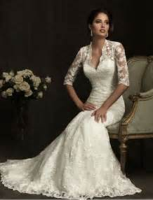 lace sleeve wedding dresses vintage lace wedding dress with 3 4 sleevescherry