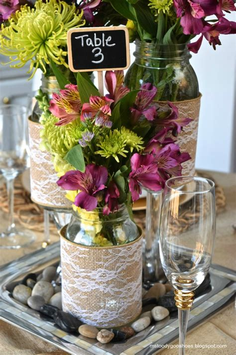 Diy Mason Jar Wedding Centerpieces A Little Claireification Jars Wedding Centerpieces