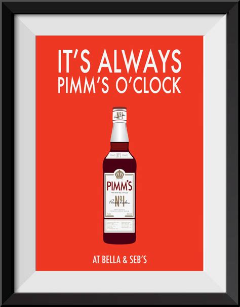 it s it s always pimm s o clock personalised print by loveday