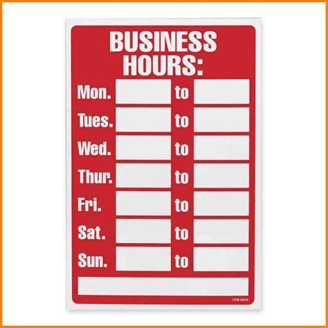 business hours template word 8 office hours template g unitrecors