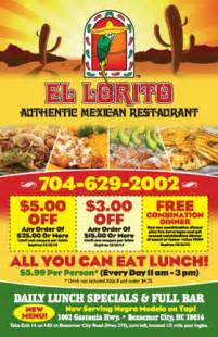 Ad Home Design Show Promotion Code by El Lorito Mexican Restaurant Coupon Sheet Flyer Flickr