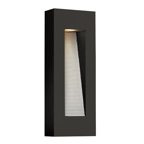 contemporary satin black led rectangular exterior wall light