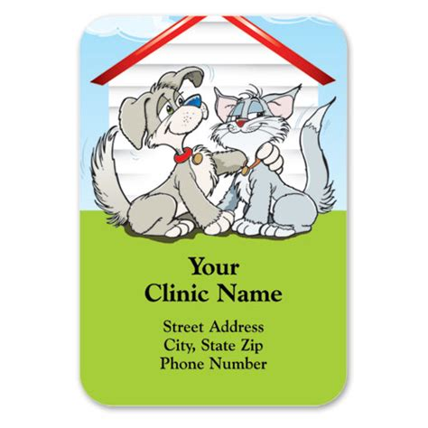 Veterinary Giveaways - full color veterinary magnets welcome mat veterinary promotional products