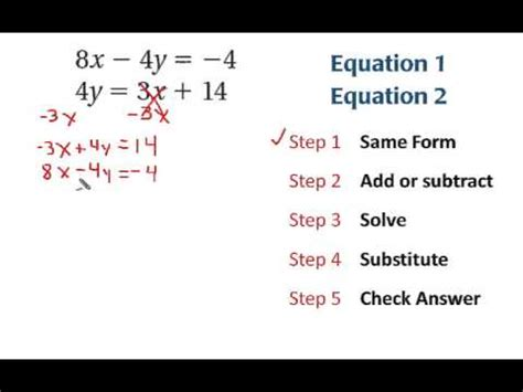 Solving Equations By Adding Or Subtracting Worksheet by 7 3 Solving Linear Systems By Adding Or Subtracting