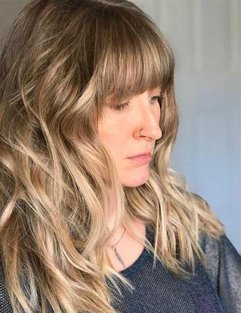 image result for blunt bangs and balayage coiffure coiffures m 232 ches et beaut 233 balayage w bangs coiffures populaires 2019