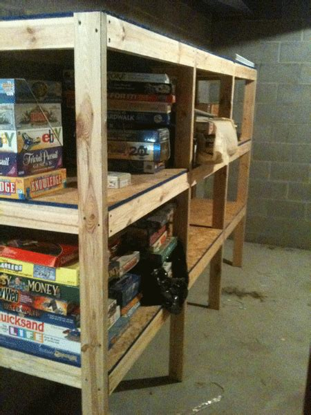 wood work how to build wood shelves in basement pdf plans