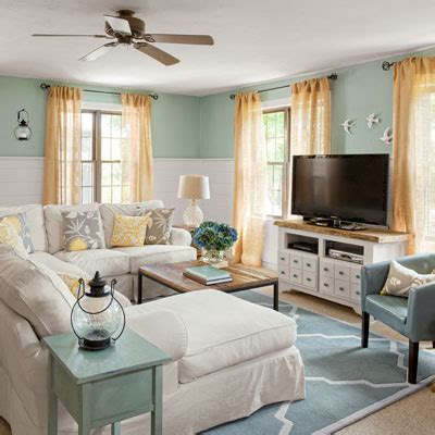 modern cottage makeover family room coastal cottage family room before after four