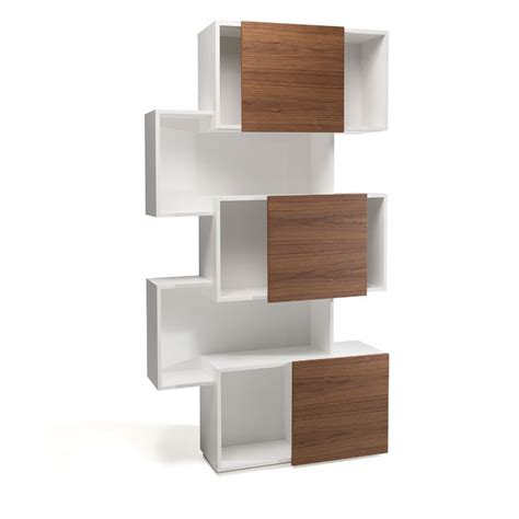 mdf bookshelves mdf bookcase piquant by cattelan italia design andrea lucatello