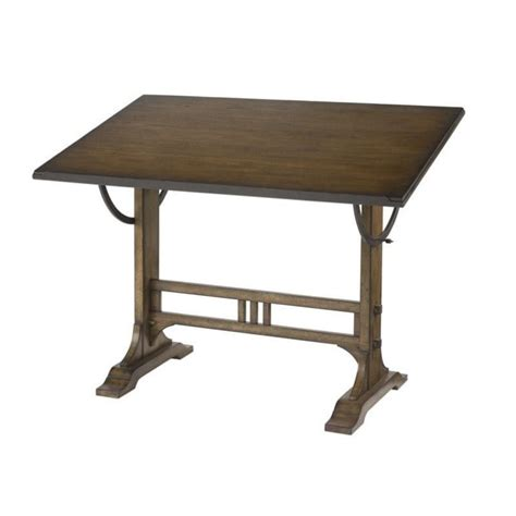 Drafting Table Desk Hammary Studio Home Architect Drafting Desk Oak Drawing Table Ebay