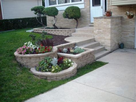 3 tier landscape with landscape blocks diy landscaping