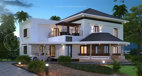 gorgeous new house model kerala home design at 3075 sqft
