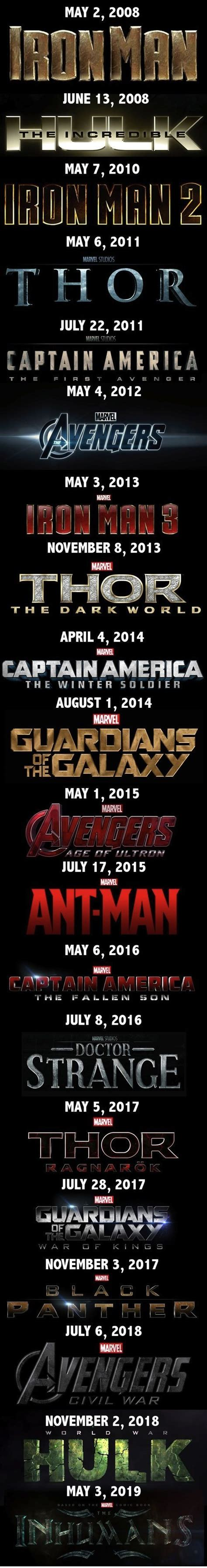 marvel film sequence the 25 best marvel movies in order ideas on pinterest