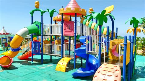 play equipment for backyard outdoor playground fun for children family park with slides disney mickey mouse