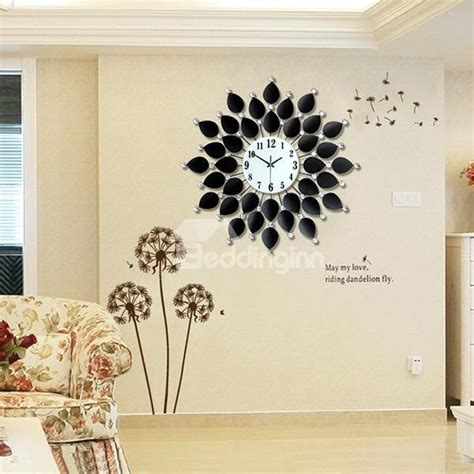 Unique Wall Decor With Modern Modern Unique Leaves Decorative Wall Clock Homescorner